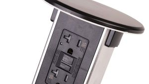 Lew Electric Pop Up Outlet Lew Electric Pur20 orb Round Countertop Pop Up 20 Amp Receptacles