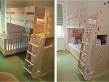 Loft Bed with Crib Underneath Celia and Tamsen Casa Kids
