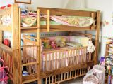 Loft Bed with Room for Crib Underneath toddler Bunk Bed with Crib Woodworking Projects Plans