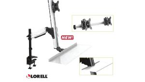 Lorell Deluxe Sit-to-stand Desk Riser Lorell Deluxe Ergonomic Floating Sit to Stand Desk Riser