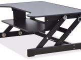 Lorell Llr 99553 Sit-to-stand Gas Lift Desk Riser Black Sit to Stand Monitor Riser Marinekraft Club
