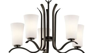 Lowes Lamparas De Techo Kichler Armida 25 25 In 5 Light Olde Bronze Etched Glass Shaded