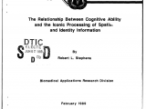 Macdill Afb Zip Code Pdf the Relationship Between Cognitive Ability and the Iconic