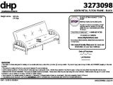 Mainstays Silver Metal Arm Futon assembly Instructions Mainstays Metal Arm Futon Instruction Manual