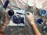 Make Your Own Pouring Medium How to Get Lacing Annemarie Ridderhof Acrylic Pour Pinterest