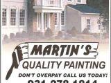 Martin Appliance Repair Clarksville Tn Mqp Door to Door Flyer 2010 From Martin 39 S Quality Painting