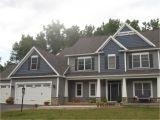 Mastic Deep Granite Vinyl Siding Home Exterior Grey Siding with Blue Shake Siding Home