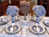 Mesa Holiday Arts and Crafts Festival French Blue and White Holiday Table Setting with toile Tablescapes