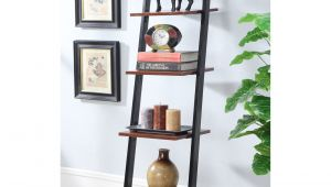Metal Storage Shelves at Walmart Convenience Concepts Designs2go 4 Tier Ladder Bookshelf Walmart Com