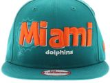 Miami Dolphins Official Colors Miami Dolphins Team Colors the Dough Word Snapback 950