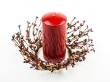 Mini Pip Berry Candle Rings Pip Berry Candle Ring Americana Decor Mini Wreath Pip Berry