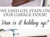 Minwax Gel Stain for Garage Door Diy Gel Stain Garage Door Update