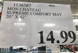 Mon Chateau Anti Fatigue Comfort Mat Mon Chateau Anti Fatigue Supreme Comfort Mat Costco