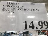 Mon Chateau Anti Fatigue Mat 20×42 Mon Chateau Anti Fatigue Supreme Comfort Mat Costco