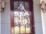 Monogram C for Front Door 28×28 3 Letter Wooden Monogram with Bow Front Door