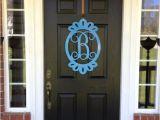 Monogram Front Door Decoration Front Door Decorations Monogram Door Hanger by Housesensations