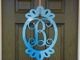 Monogram Front Door Decoration Front Door Decorations Monogram Door Hanger by