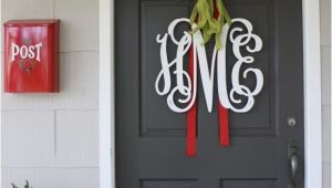 Monogram Front Door Hanger A Proper Monogram Christmas Chatter Holly Mathis Interiors