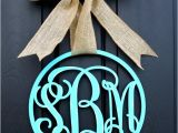 Monogram Front Door Hanger Items Similar to Wooden Monogram Monogrammed Wreath