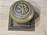 Monogram Front Door Knob Old Door Knob Square Back Plate Bronze Stco Monogram