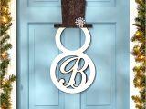 Monogram H for Front Door Monogram Snowman Front Door Hangers Wall Decor Metal 15