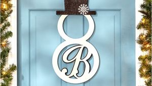 Monogram H for Front Door Monogram Snowman Front Door Hangers Wall Decor Metal 15