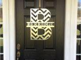 Monogram Initials for Front Door Chevron Front Door Wreath Chevron Monogram by