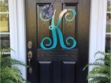 Monogram L for Front Door Initial Monogram Front Door Wreath From Housesensations