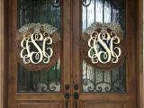 Monogram L for Front Door Refreshing Monogrammed Wreaths for Front Door Living Room
