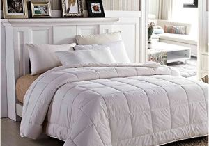 Most Fluffy Down Alternative Comforter Amor Amore White soft Fluffy Reversible solid Beding