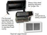 Most Powerful 120v Heater Cadet Rmc151w Register Electric Wall Fan Heater Multi
