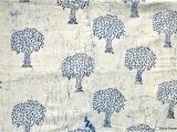 Mudcloth Cotton Fabric by the Yard Tree Design White Indigo Fabric Mudcloth Block Print Fabric by Etsy