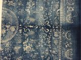 Mudcloth Fabric by the Yard Chinese Indigo Batik In Extra Large Size Fabric Vintage Chinese