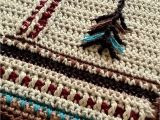 Native American Baby Blankets Native American Art Inspired Crochet Blanket Great for A