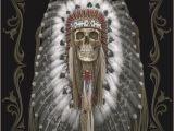 Native American Super Plush Blanket Dga Native Skull Queen Size Luxury Super soft Plush