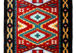 Native American Super Plush Blanket southwest Super Plush Polar Fleece Queen Blanket southwest
