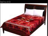 Native American Super Plush Blanket Wyndham House Red Burgundy Native American Luxury soft