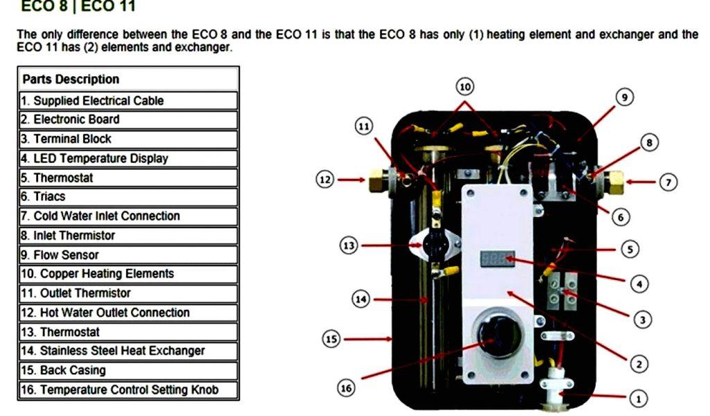 rheem tankless water heater parts diagram