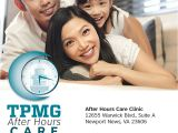 Newport News Catalog Request Tpmg Urgent Medical Care In Newport News Open until 8pm On Weeknights