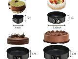 Non toxic Waffle Maker Amazon Com Springform Cake Pan Set 3pcs Round 7 9 10 and 1pcs