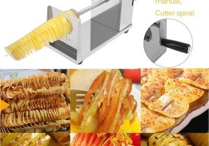 Non toxic Waffle Maker Manual Cutter Twisted Spiral Slicer Potato French Fry Vegetable