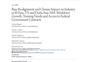 Northeast Plant World Nursery El Paso Pdf Base Realignment and Closure Impact On Industry In El Paso Tx