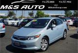 Offer Up Cars for Sale Sacramento Pre Owned 2012 Honda Civic Sdn Lx 4dr Car In Sacramento A22910 M
