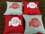 Ohio State Cornhole Bags Ohio State Buckeyes Cornhole Bags Set Of 8 Ncaa Handmade