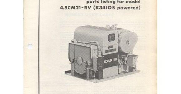 Old Kohler Generator Parts original 1983 Kohler Parts List Model 4 5cm21 Rv K341qs