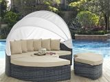 Outdoor Daybed with Canopy Costco Summon Antique Canvas Beige Canopy Outdoor Patio Sunbrella