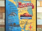 Pack and Ship Store Naples Fl Naples Florida Beach Map Print From An original Hand Painted and Lettered Sign Beach House Decor Florida Art Travel Map Art Kids Family