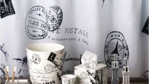 Paris themed Bathroom Set Paris Shower Curtain and Accessories Mom Pinterest