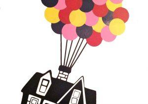 Party Supplies In Roanoke Va Floating House with 32 Hot Air Balloons Vinyl Wall Decal Up Etsy