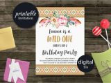 Party Supplies Roanoke Va Wild One Birthday Invitation Tribal Birthday Invitation Girl